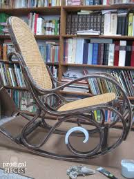 vintage bentwood rocking chair gets embroidered makeover by prodigal pieces prodigalpieces com
