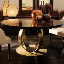 designer italian bronzed ring round dining table