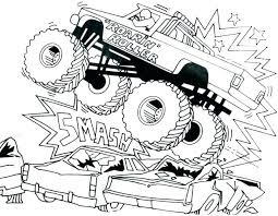Monster Truck Coloring Pages Monster Truck Coloring Sheet Truck