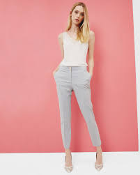 Womens Light Gray Pant Suit Tailored Slim Fit Pants Light Gray Suits Ted Baker