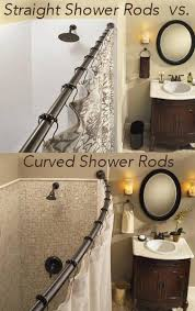 curtain pretty curved bathroom rod 18 straight vs shower rods from bliss by rotator grande jpg