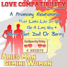 Aries Man And Gemini Woman Love Compatibility Sunsigns Org