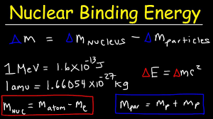 nuclear binding energy per nucleon mass defect problems nuclear chemistry