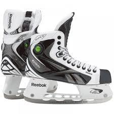Reebok White K Pump Sr Ice Hockey Skates W Free Rocket