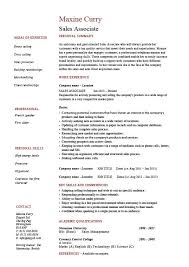 Retail Sales Associate Resume Example 79 Images Clothes Retail