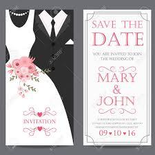 Wedding Invitation Card Bride And Groom Dress Concept Love
