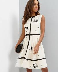 the most stylish black and white wedding guest outfits Wedding Guest Dresses Ted Baker how pretty is this iivy dress by ted baker london? Wedding Dresses De Charro
