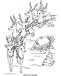 Santa Claus And Reindeer Coloring Pages 279 Best Christmas Coloring