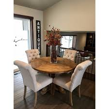 Round dining table set French Country Shop Benchwright Rustic Xbase 48inch Round Dining Table Set By Inspire Artisan Free Shipping Today Overstockcom 14357274 Amazoncom Shop Benchwright Rustic Xbase 48inch Round Dining Table Set By