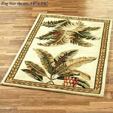 palm tree rugs rug awesome leaf tropical fish outdoor in area popular round bathroom set