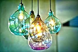 blown glass pendant lights incredible hand blown glass pendant lights lighting for inspirations hand blown glass
