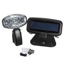 SPV Lights  S22 Solar Outdoor PIR Utility Light  Dual Head Solar Pir Utility Light