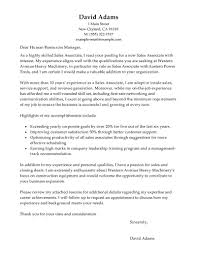 Best Customer Service Sales Associate Cover Letter Examples
