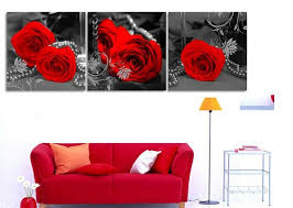 3 panels quadros wall painting modern canvas wall art flower pictures red rose canvas painting for on red rose canvas wall art with 3 panels quadros wall painting modern canvas wall art flower