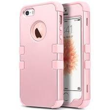 iphone 5s rose gold case. iphone se case,ulak 5s case, 3 in 1 pc+silicone hybrid iphone 5s rose gold case a