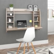 wall mounted home office. Image Is Loading Wall-Mounted-Computer-Desk-Floating-Oak-Desk-Table- Wall Mounted Home Office