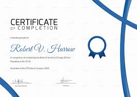 Completion Certificate Sample Marathon Completion Certificate Design Template In Psd Word
