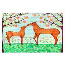 deer area rugs red ab