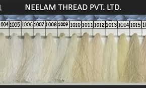 Neelam Thread Color Chart Spun Polyester Thread Shades Neelam Thread
