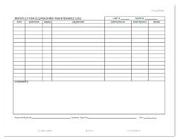 Excel Log Sheet Template Fuel Log Template