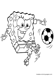 Spongebob Squarepants Playing Soccer School Voetbal Bob Esponja