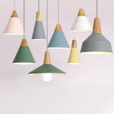 <b>E27 Pendant Lights</b> Restaurant/Bar Lighting Wooden Aluminum ...