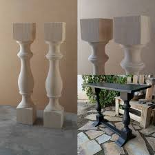 Console table legs Ebay Gallery Photo Dezitec Pair Unfinished Monastery Console Table Legs Set Of Turned Posts