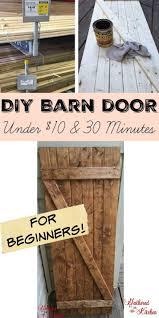 Dutch Barn Door Plans Diy Barn Door Under 10 In 30 Minutes Diy Barn Door Barn Doors