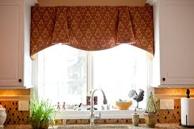 pretty brown fabric curtain valance kitchen window ideas for double glass windowed also sink kitchen in small room ideas