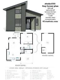 mini home floor plans modern tiny house plan