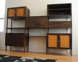 Modular Wall Storage Home Design Ideas Mid Century Modern Wall Unit With Desk Mid