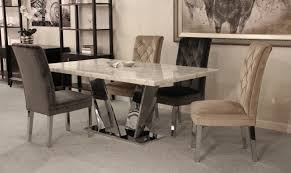 china modern furniture stainless steel cream white marble dining table with cream grey cream velvet chairs china marble dining table marble dining
