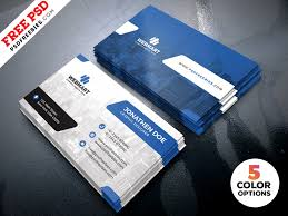 Free Psd Business Card Templates Clean Business Card Templates Psd Psdfreebies Com