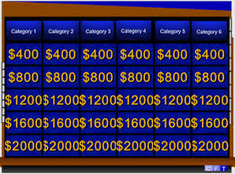 Best And Most Realistic Double Round Jeopardy Template W Instructions And Music