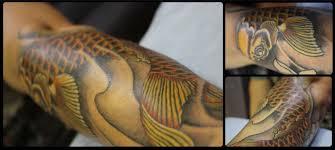 татуировка японский карп арт тату сергей грек