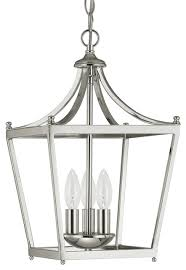 stanton 3 light foyer pendants polished nickel