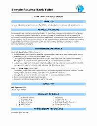Resume Format For Banking Sector For Freshers Inspirational Ideas Of
