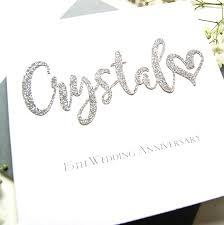 Crystal 15th Wedding Anniversary Card Shop Online Hummingbird