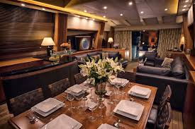 casino royale is a sunseeker motorboat for at  sunseeker 108 dining area
