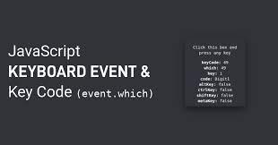 Javascript Keycode Chart Javascript Keyboard Event Javascript Keyboard Key Code