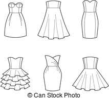 get dressed clipart black and white. Contemporary Dressed Dress  Vector Illustration Of Womenu0027s Dresses And Get Dressed Clipart Black White L