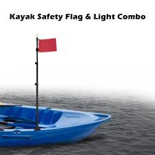Kayak Flag Light Us 25 89 41 Off Inflatable Boat Diy Kayak Accessories Safety Flag Safety Flag Light Combo Waterproof Light Lamp For Marine Boat Canoe Accessorie In