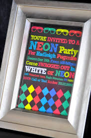 neon glow in the dark party invitation see more glow in the dark party ideas