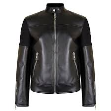 neil barrett ribbed leather jacket 360 view zoom