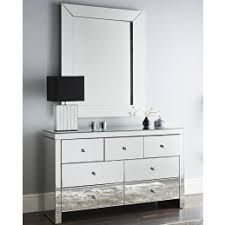 mirrorred furniture. Mirrored Glass 7 Drawer Mirror Chest Cabinet Mirrorred Furniture G