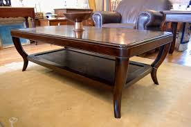 furnitures interesting dark brown rectangle antique wooden oversized coffee table stained ideas big tables extra
