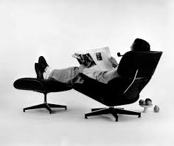 Charles Eames in his iconic chair on Jenography