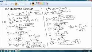 factoring polynomials 7 solving quadratic equations using quadratic formula