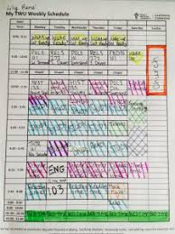 My Weekly Schedule My Scholarly Schedule Lily Rene
