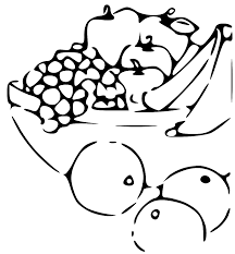 black and white fruit bowl clipart. On Black And White Fruit Bowl Clipart